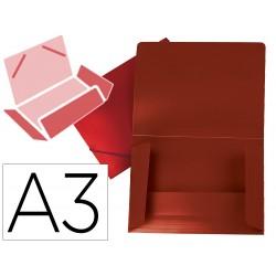 Carpeta liderpapel portadocumentos solapas polipropileno din a3 rojo translucido lomo flexible