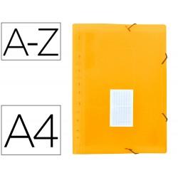 Carpeta liderpapel clasificador fuelle polipropileno din a4 naranja fluor opaco 13 departamentos