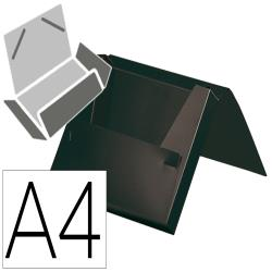 Carpeta liderpapel portadocumentos gomas polipropileno din a4 negro opaco lomo 25 mm