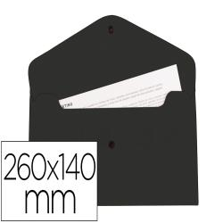 Carpeta liderpapel dossier broche polipropileno tama o sobre americano 260x140 mm negro opaco