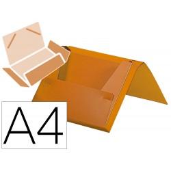 Carpeta liderpapel portadocumentos gomas polipropileno din a4 naranja fluor lomo 25 mm