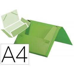 Carpeta liderpapel portadocumentos gomas polipropileno din a4 verde manzana opaco lomo 25 mm