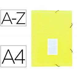 Carpeta liderpapel clasificador fuelle polipropileno din a4 amarillo fluor opaco 13 departamentos