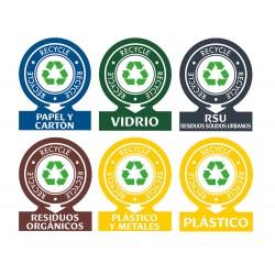Etiquetas adhesivas avery para residuos 141x110 mm pack de 6 unidades surtidas