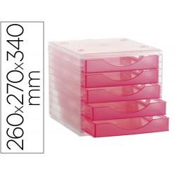 Fichero cajones de sobremesa archivo 2000 apilable 5 cajones
