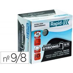 Grapas rapid super strong galvanizadas nº9/8 caja de 5000 unidades