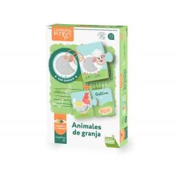 Juego educativo falomir animales de granja tacto y sensaciones