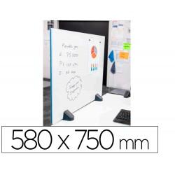 Mampara separadora planning sisplamo con pizarra acero vitrificado una cara con pinzas para mesa 580x750 mm