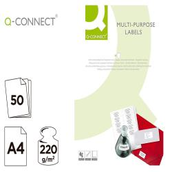 Papel q-connect foto mate doble cara din a4 para fotocopiadoras e impresoras ink jet bolsa de 50 hojas 220