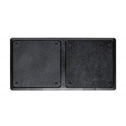 Alfombra desinfectante q-connect dos compartimentos desinfeccion / secado 80x40 cm