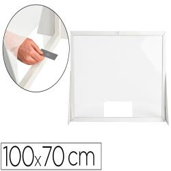 Pantalla de proteccion q-connect carton formato horizontal 100x70 cm