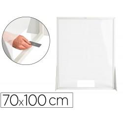 Pantalla de proteccion q-connect carton formato vertical 70x100 cm