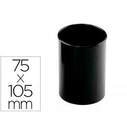 Cubilete portalapices archivo 2000 antimicrobiano sanitized redondo negro 75x105 mm
