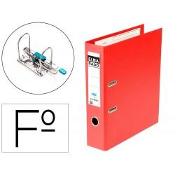 Archivador de palanca elba chic carton forrado pvc con rado folio lomo de 80 mm rojo