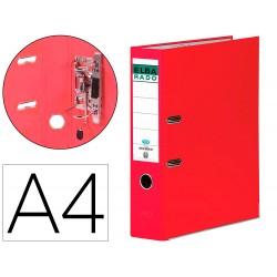 Archivador de palanca elba chic carton forrado pvc con rado din a4 lomo de 80 mm rojo