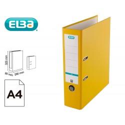 Archivador de palanca elba top carton compacto polipropileno con rado din a4 lomo de 80 mm amarillo