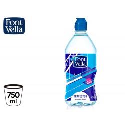 Agua mineral natural font vella botella de 75 cl
