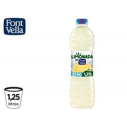 Agua mineral natural font vella lim0nada zero con zumo de limon botella 1,25l
