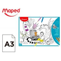 Mantel para colorear maped individual din a3 pack de 15 unidades surtidas