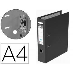 Archivador de palanca elba chic carton forrado pvc con rado folio lomo de 80 mm negro