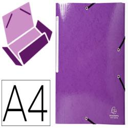 Carpeta exacompta iderama gomas carton laminado 425 gr tres solapas din a4 violeta