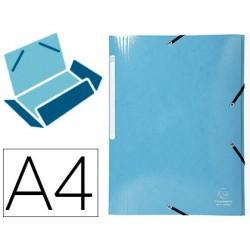 Carpeta exacompta iderama gomas carton laminado 425 gr tres solapas din a4 colores surtidos