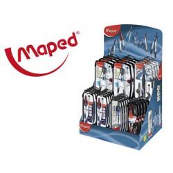 Compas maped expositor de 40 unidades surtidas