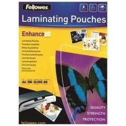 Fellowes 5306114 FUNDAS PLASTIF 100 80 MC BRILLO A4