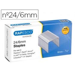 Grapas rapesco galvanizada 24/6 caja de 5000 unidades