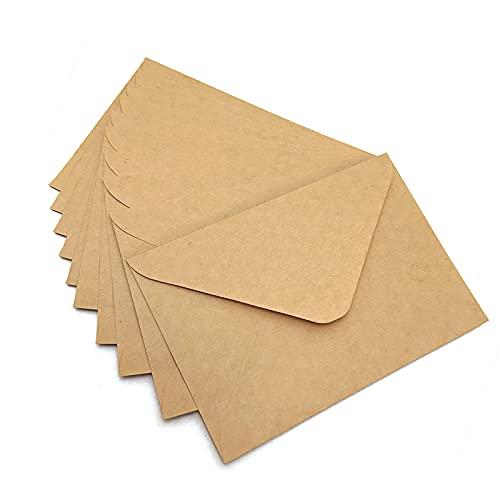 Noa Home Deco sobres (100 piezas) de papel Kraft antiguo/sin...