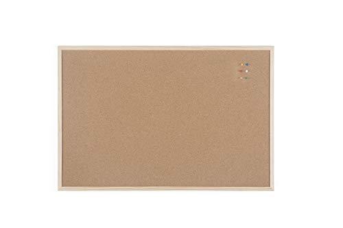 Bi-Office Budget - Tablero de corcho con marco de madera, 90...