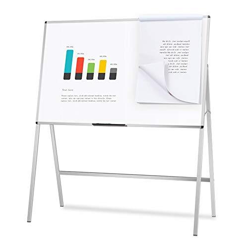 VIZ-PRO Pizarra blanca de caballete magnética, 120 x 90 cm