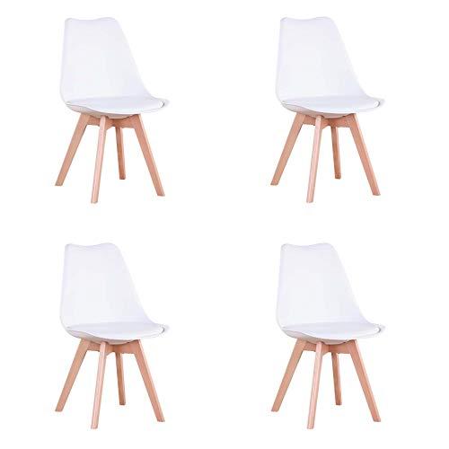 Conjunto de 4 sillas, Silla de Comedor, Silla de Estilo...