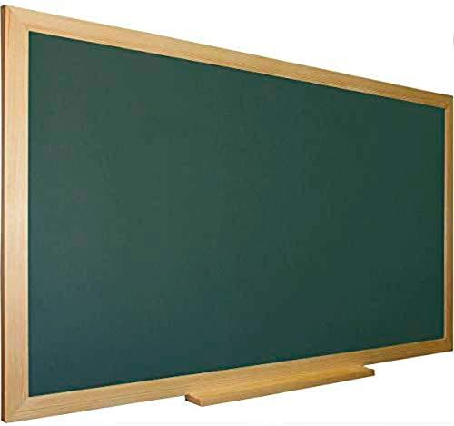 Pizarra verde para tiza con marco madera natural de pino...
