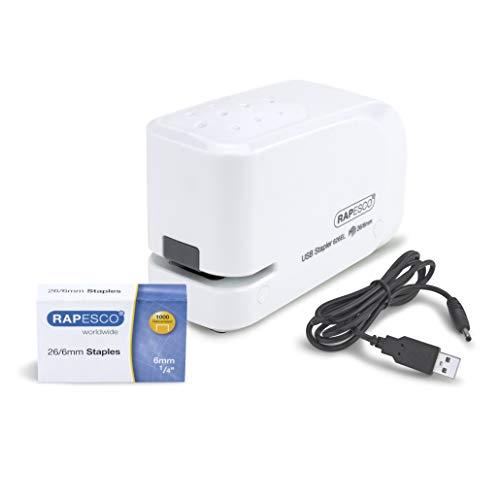 Rapesco 626EL - Grapadora eléctrica, conexión USB o pilas,...