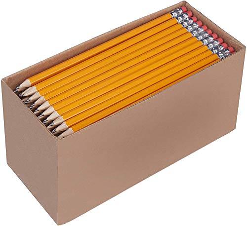 Amazon Basics - Lápices n.º2 HB de madera, afilados,...