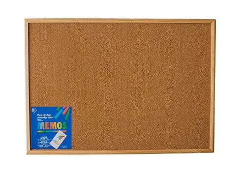 Tablero de corcho con marco de madera (50X70) - Tablón de...