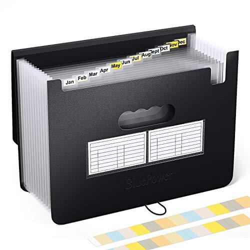 BluePower Carpeta Clasificadora Documentos A4 Extensible...