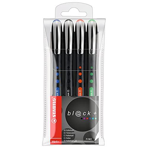 Roller tinta líquida STABILO Bl@ck - Estuche con 4 colores