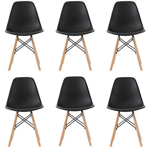 Pack 6 sillas de Comedor Silla diseño nórdico Retro Estilo...