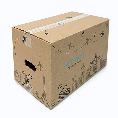 KYWAI. Pack 20 Cajas Carton Mudanza y Almacenaje 50x30x30...
