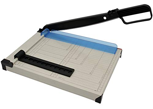Cortador de papel A4 compacto, cortador de papel de metal,...