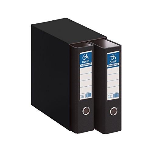 Dohe Archicolor - Módulo 2 archivadores A4, color negro