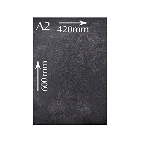 Chalkboards UK Pizarra sin Marco A2 42 x 60 cm, Madera,...