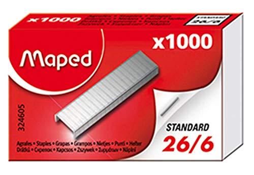 Maped 324605grapas 26/6, 1000unidades, en caja