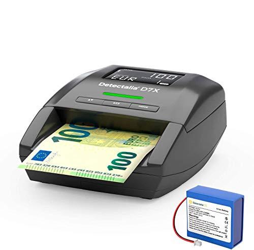 Detector de billetes falsos Detectalia D7X con 100%...