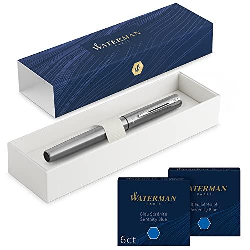 Waterman Allure pluma estilográfica   acero inoxidable con...