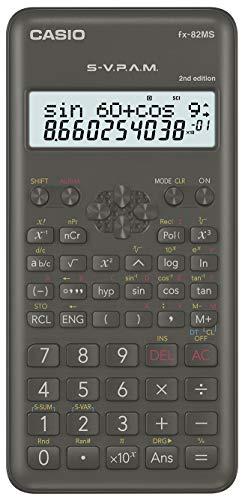 Casio FX-82MS-2- Calculadora científica, color gris oscuro