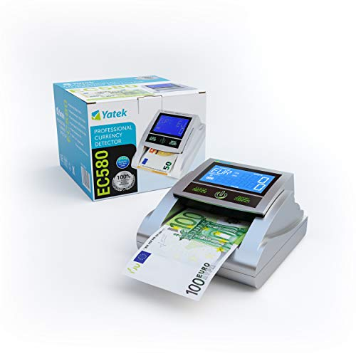 YATEK Detector de Billetes Falsos EC580 con 6 métodos de...