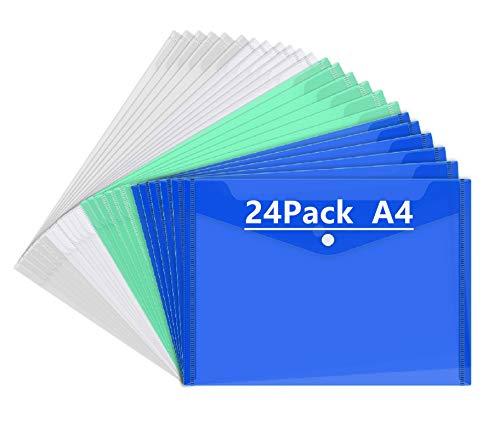 Mutsitaz 24 Piezas Carpeta para Documentos A4 - Carpetas...